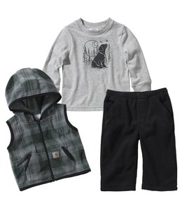 Carhartt Boy's Infant 3-Piece Vest Set CG8751