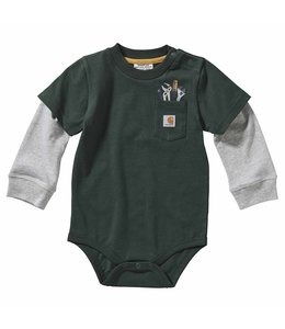 Carhartt Boy's Infant Long Sleeve Pocket Tee Bodyshirt CA6127