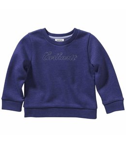 Carhartt Girl's Infant/Toddler Long Sleeve Fleece Crewneck Sweatshirt CA9801