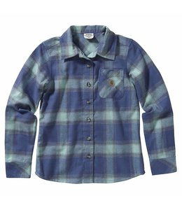 Carhartt Girl's Long Sleeve Plaid Button Down Flannel Shirt CE9140