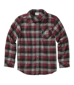 Carhartt Boy's Long Sleeve Plaid Flannel Shirt CE8182