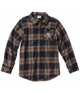 Carhartt Boy's Long Sleeve Plaid Flannel Shirt CE8180