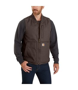 Carhartt Men's Washed Duck Insulated Rib Collar Vest 104395
