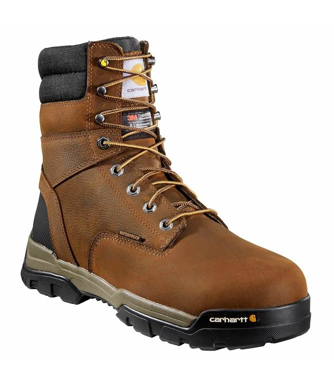"""Carhartt Men's Ground Force 8"""" Insulated Waterproof Non-Safety Toe Work Boot CME8047"""