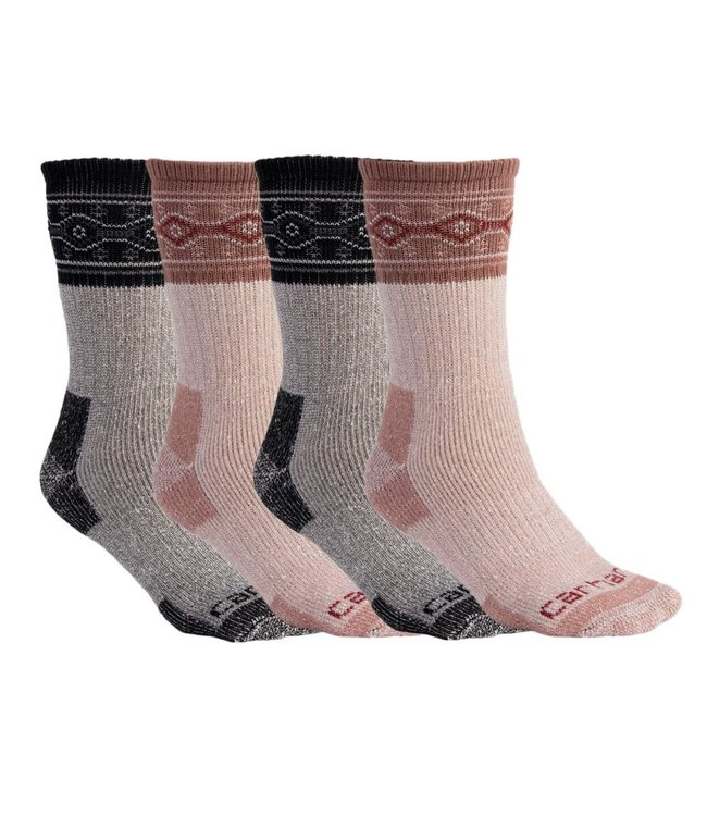 Carhartt Women's Cold Weather Crew Sock 4 Pack WA685-4