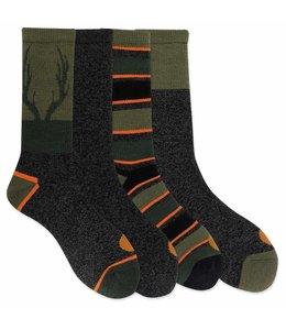 Carhartt Boy's Thermal Crew Sock 4 Pack CHBA0103C4