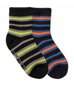 Carhartt Boy's Infant/Toddler Carhartt Gripper Cozy Thermal Crew Socks 2 Pack BA861-2