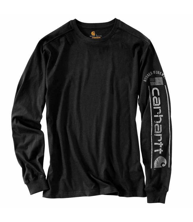Carhartt Men's Relaxed Fit Midweight Long-Sleeve Logo Graphic T-Shirt 104536
