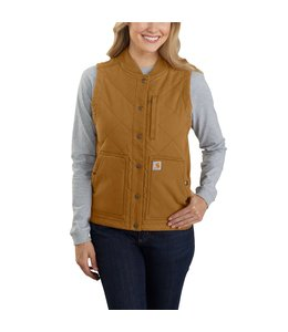 Carhartt Women's Rugged Flex Canvas Insulated Rib Collar Vest 104423