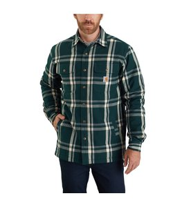 Carhartt Men's Relaxed Fit Flannel Sherpa-Lined Snap-Front Plaid Shirt Jac 104452