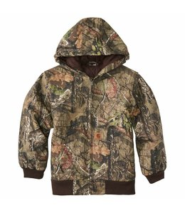 Carhartt Boy's Mossy Oak Camo Flannel Quilted-Lined Active Jacket CP8529
