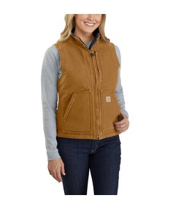 Carhartt Women's Washed Duck Sherpa Lined Vest 104224