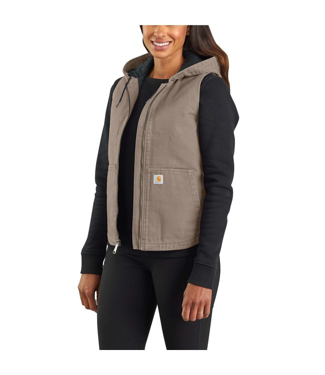 Carhartt Women's Washed Duck Insulated Hooded Vest 104026