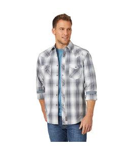 Wrangler Men's Retro Long Sleeve With Contrast Trim Western Snap Plaid Shirt MVR526X