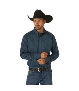 Wrangler Men's 20X Competition Performance Long Sleeve Button Down Print Shirt MPC136M