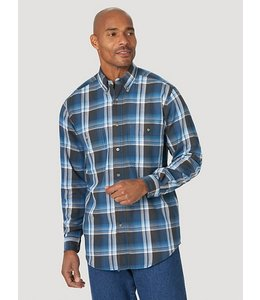 Wrangler Men's Rugged Wear® Blue Ridge Plaid Shirt RWBL3BB