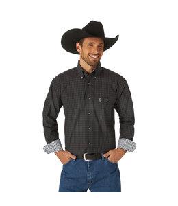 Wrangler Men's George Strait Long Sleeve Button Down One Pocket Plaid Shirt MGSX817