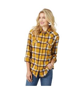 Wrangler Women's Western Boyfriend Flannel Shirt LW7512M