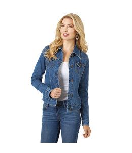 Wrangler Women's Long Sleeve Classic Fit Denim Jacket LWJ701D