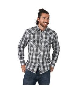 Wrangler Men's Long Sleeve Fashion Western Snap Plaid Shirt MVG292X