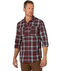 Wrangler Men's ATG Utility Canyon Flannel Shirt NSP51BK