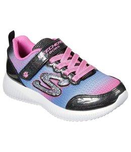 Skechers Girl's Lil BOBS Sport Squad - Spunky Steps 300019L BKMT