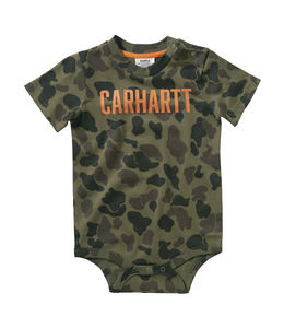 Carhartt Boy's Infant Short Sleeve Camo Printed Bodyshirt CA6064