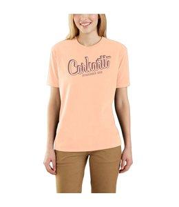 Carhartt Women's Loose Fit Heavyweight Short Sleeve Carhartt Graphic T-Shirt 104688