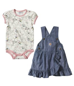 Carhartt Girl's Infant Chambray Jumper Set CG9753