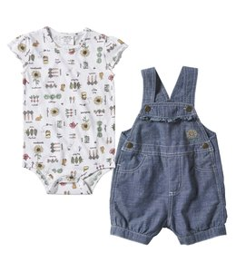 Carhartt Girl's Infant Sunflower Shortall Set CG9747