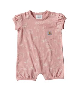 Carhartt Girl's Infant Scribble Farm Print Romper CM9692