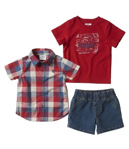 Carhartt Boy's Toddler 3-Piece Denim Short Set CG8764