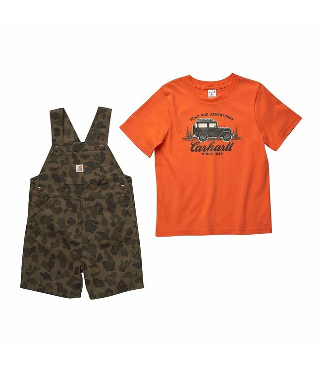 Carhartt Boy's Toddler Camo Shortall Set CG8767
