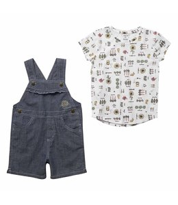 Carhartt Girl's Toddler Sunflower Shortall Set CG9758
