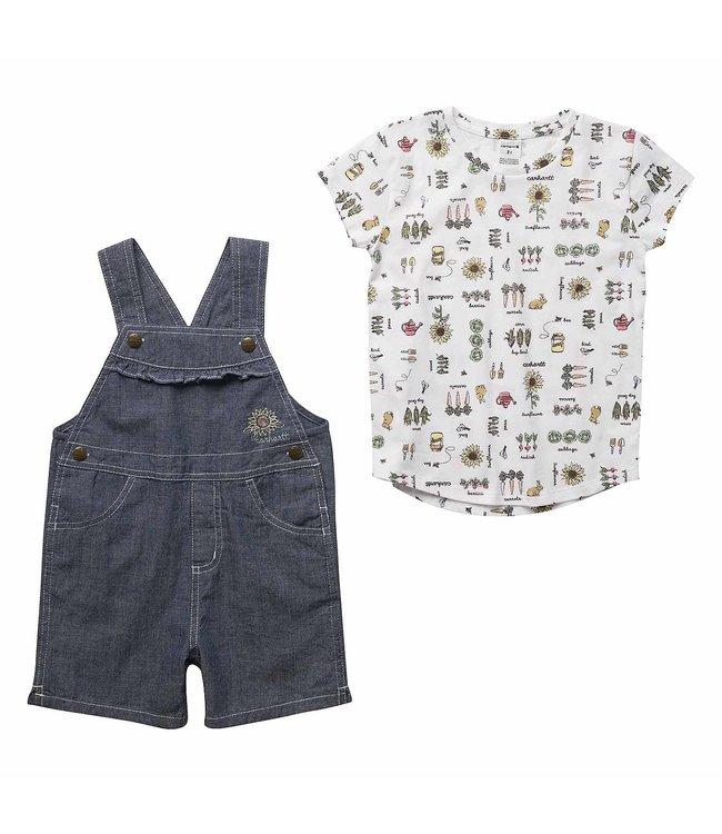 Carhartt Girl's Toddler Sunflower Shortall Set CG9758