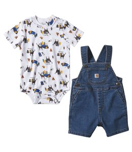 Carhartt Boy's Infant Denim Shortall Set CG8754