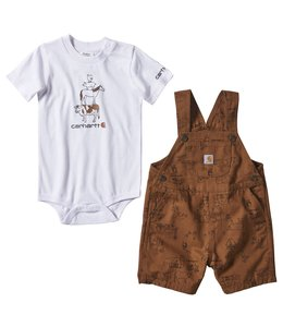 Carhartt Boy's Infant Printed Canvas Shortall Set CG8753