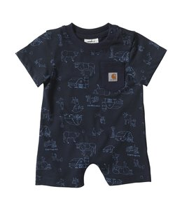 Carhartt Boy's Infant Scribble Farm Print Romper CM8701