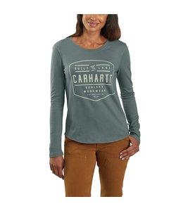 Carhartt Women's Lockhart Graphic Carhartt Workwear Long-Sleeve T-Shirt 103929