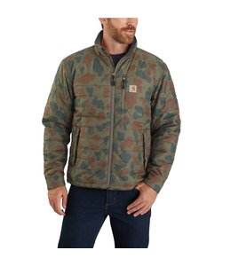 Carhartt Men's Rain Defender Lightweight Insulated Camo Mock Neck Jacket 104580