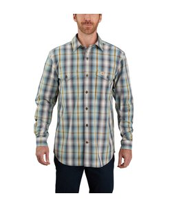 Carhartt Men's Relaxed Fit Cotton Long-Sleeve Plaid Shirt 104446