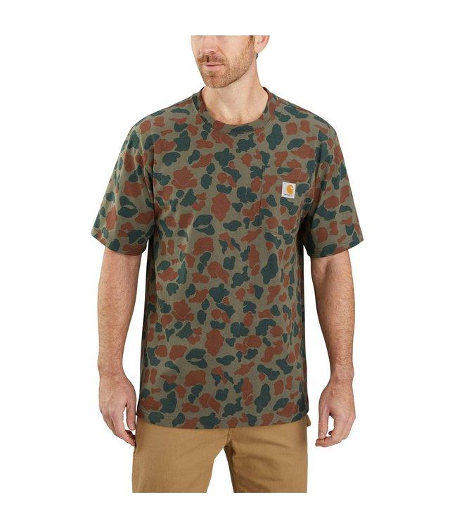 Carhartt Men's Original Fit Heavyweight Short Sleeve Pocket Camo T-Shirt 104573