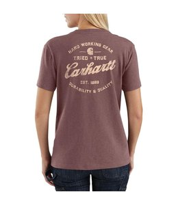 Carhartt Women's Loose Fit Heavyweight Short-Sleeve Pocket Tried And True Graphic T-Shirt 104687