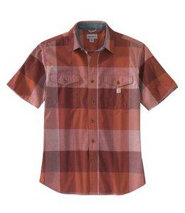 Carhartt Men's Rugged Flex Relaxed Fit Lightweight Short-Sleeve Plaid Shirt 104623