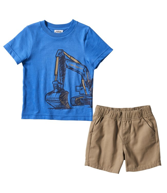 Carhartt Boy's Infant 2-Piece Wrap T-Shirt Short Set CG8759