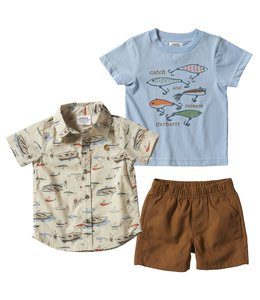 Carhartt Boy's Toddler 3-Piece Canvas Short Set CG8762