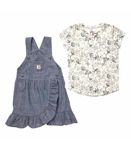 Carhartt Girl's Toddler Chambray Jumper Set CG9759
