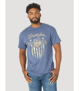 Wrangler Men's Short Sleeve Americana Emblem Graphic T-Shirt MQ6153B