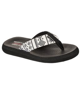 Skechers Women's Relaxed Fit: Asana - Desert Dreamer Flip Flop 119127 WBK