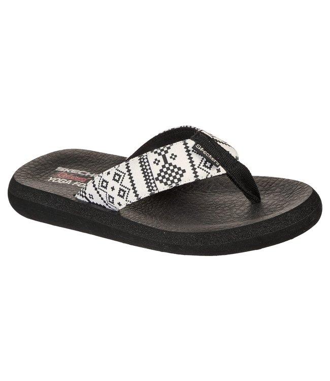 Skechers Women's Relaxed Fit: Asana - Desert Dreamer Flip Flop 119127 WBK